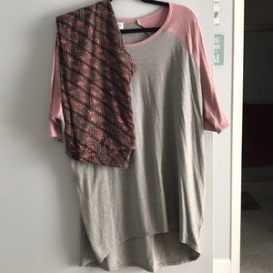 Lularoe Irma and leggings. Set can be separated.